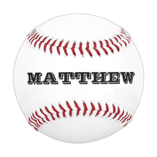 Custom baseball with personalizable name or slogan