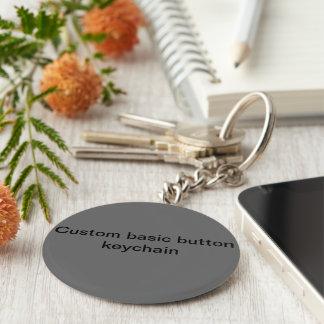 Custom basic button keychain