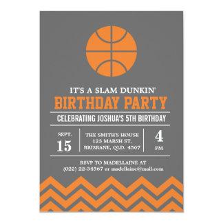 Custom Basketbal Birthday Party Invitation for Boy