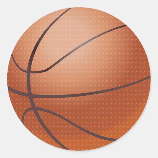 Custom Basketball Design Classic Round Sticker