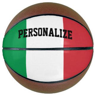 Custom basketball gift with Italian flag colors