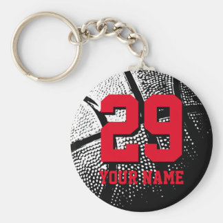 Custom basketball jersey number keychains for fans