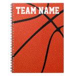 Custom Basketball Notebook