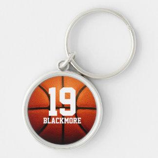 Custom Basketball Numbers Key Chains