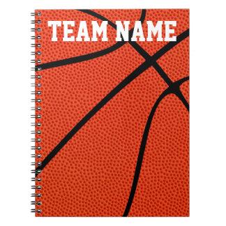 Custom Basketball Player, Coach or Team Notebooks