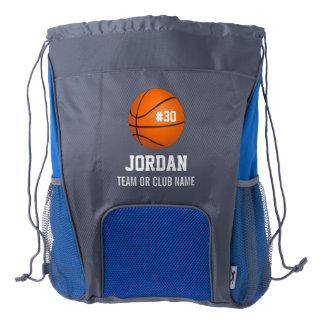 Custom Basketball Player & Team Name Jersey # Year Drawstring Backpack