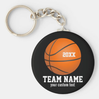 Custom Basketball Player & Team Name Jersey # Year Keychain