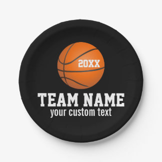 Custom Basketball Player & Team Name Jersey # Year Paper Plate