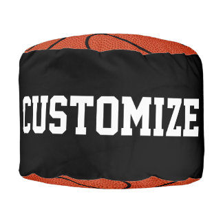 Custom Basketball Round Pouf Beanbag Chair