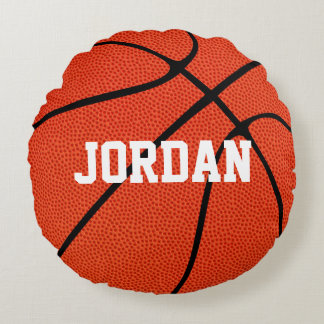 Custom Basketball Round Throw Pillow
