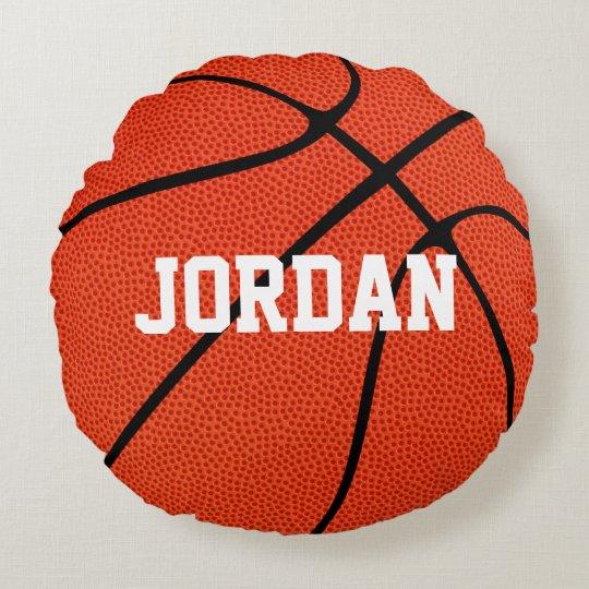 Custom Basketball Round Throw Pillow Zazzle Com