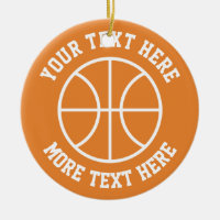 Custom basketball sports Christmas tree ornament