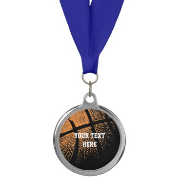 Beach Themed Custom basketball sports medallion medal trophies