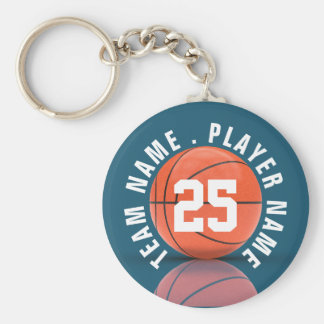 Custom Basketball Team Keychain