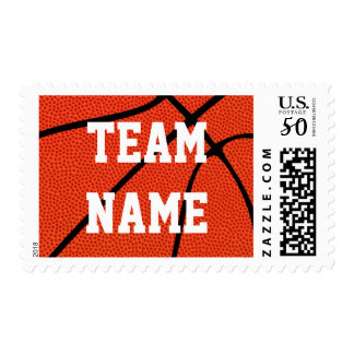 Custom Basketball Team Name or Other Text Stamps