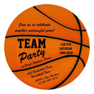 Custom Basketball Team Party Card
