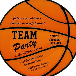 basketball team party invitations zazzle