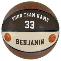 Custom Basketball with Name Number Kids