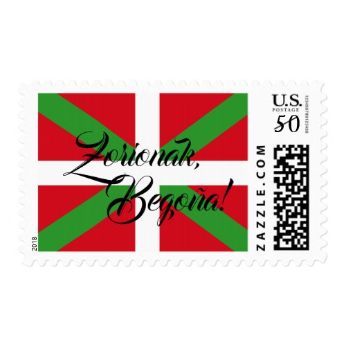 Custom, Basque Country national flag Ikurri&#241&#x3B;a: Postage