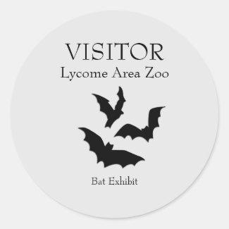 Custom Bat Exhibit Stickers
