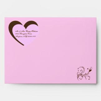 Custom Bat Mitzvah Invitation Envelopes