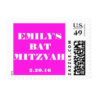 Custom Bat Mitzvah postage stamp