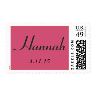 Custom Bat Mitzvah postage stamp