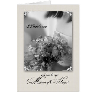 Custom Be My Matron of Honor? Wedding Request Greeting Cards