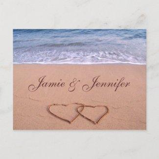 Custom beach card post card
