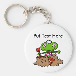 Custom Beach Fun Frog Basic Round Button Keychain