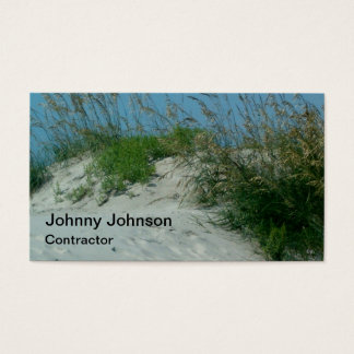 Custom Beach Sand Dune Contractor Painter Business Card