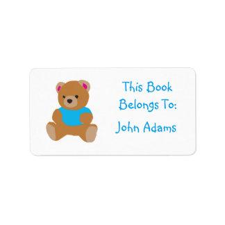 Custom Bear Label (Book Belongs To:)