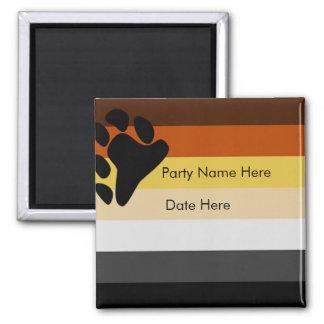Custom Bear Pride Party Favors Magnet