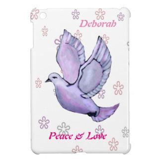 Custom Beautiful peace dove in soft colors with iPad Mini Cases