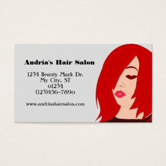 Custom Beauty Salon Business Cards Red Hair