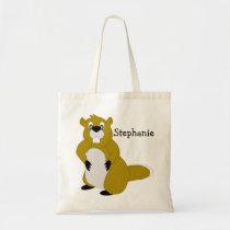 Custom Beaver Design Tote Bag