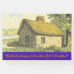 [ Thumbnail: Custom Bed & Breakfast Name + Rustic Cottage Guest Book ]