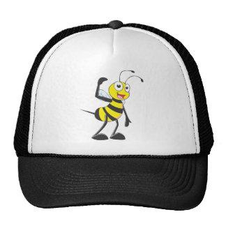 """Custom Bee in """"Come Here"""" Hand Gesture Mesh Hats"""