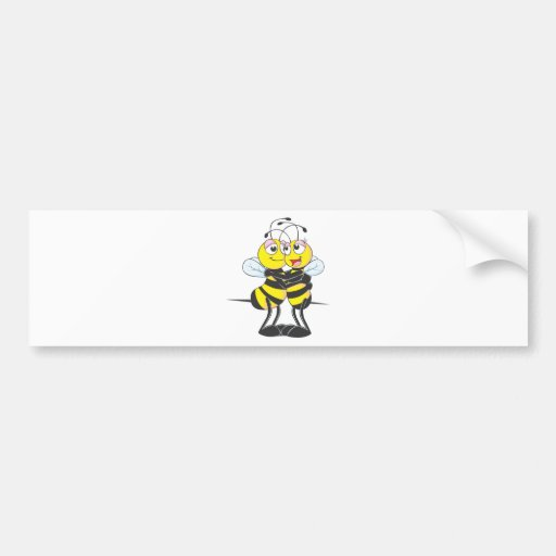 Custom Bee Lovers Hugging Each Other Bumper Stickers