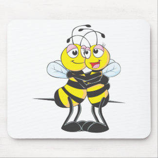 Custom Bee Lovers Hugging Each Other Mouse Pad