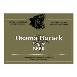 Custom beer label t-shirt postcard