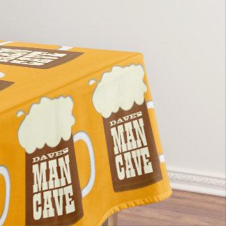 Custom Beer Mug Man Cave Tablecloth
