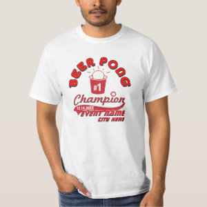 Custom Beer Pong Champion Award Shirt