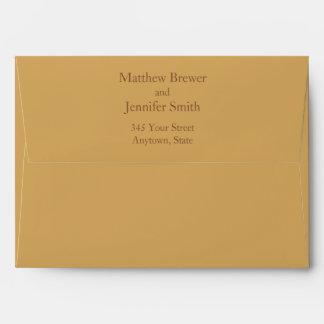 Custom Beige and Brown Envelope w/ Return Address
