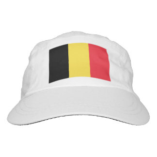 Custom Belgian flag knit and woven sports hats