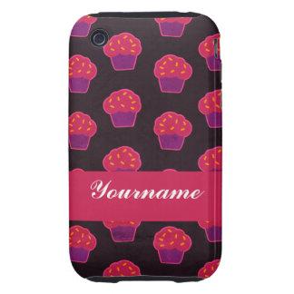 Custom Berry Cupcake iPhone 3 Tough Cover