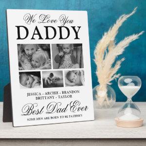 Custom Best Dad Ever Photo Collage Plaque