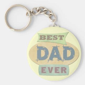 Custom Best Dad Father's Day Keychain
