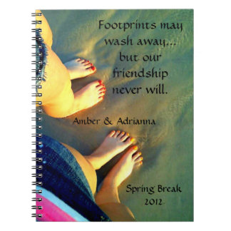Custom Best Friend Beach Memories Notebook