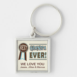 Custom Best Grandpa Ever Father's Day Keychain